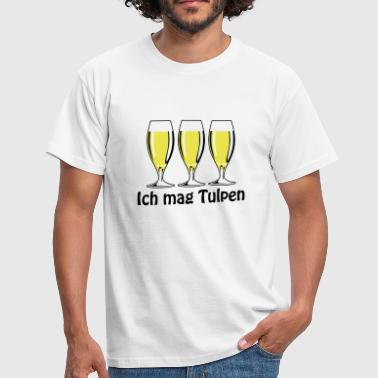 Ich mag Tulpen | Bier | Beer - Men's T-Shirt