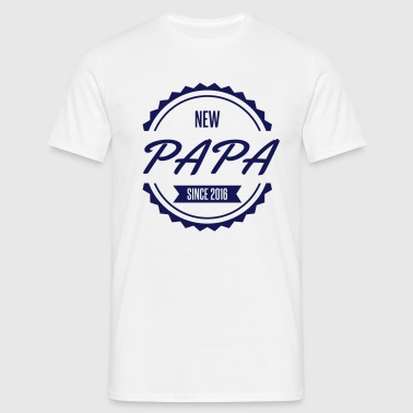 new papa since 2016 - T-shirt Homme