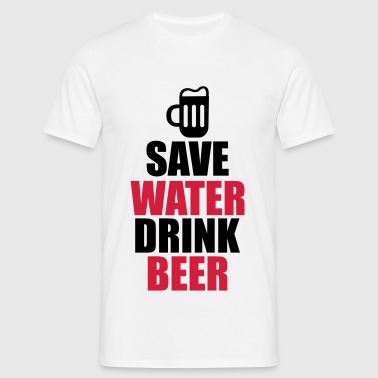 Alcohol Fun Shirt - Save water drink beer - Herre-T-shirt