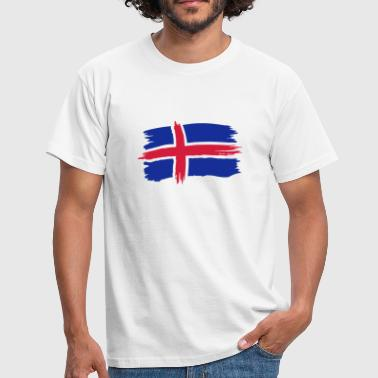 Island Iceland Flagge - Men's T-Shirt