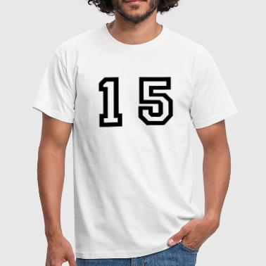 number - 15 - fifteen - Men's T-Shirt