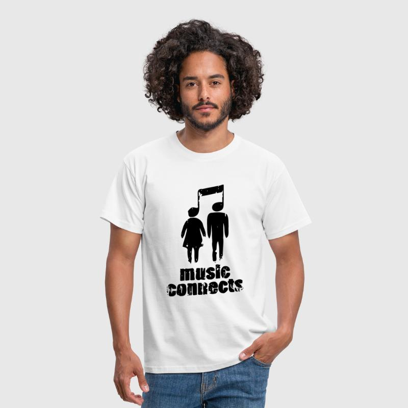 Music Connects - Männer T-Shirt