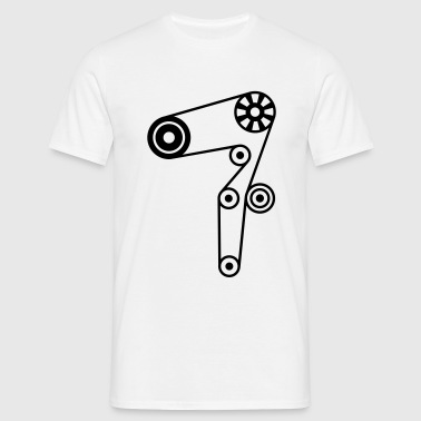 belt_of_the_distribution_of_the_engine_c1 - Men's T-Shirt