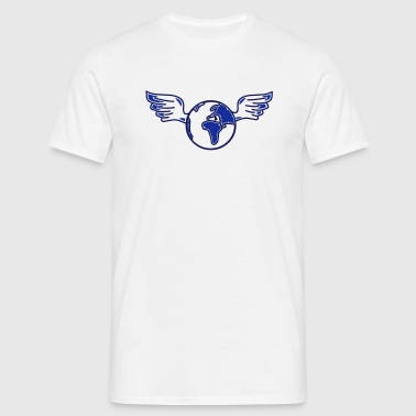 earth with wings - Men's T-Shirt
