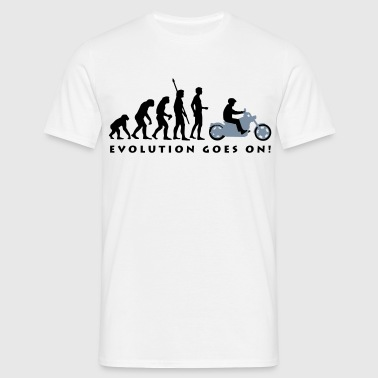 evolution_biker_2c - Men's T-Shirt