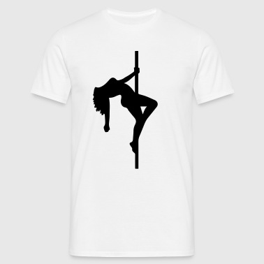 Sexy pole dancer stripper girl hot striptease - T-shirt herr