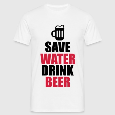 Alcohol Fun Shirt - Save water drink beer - Camiseta hombre