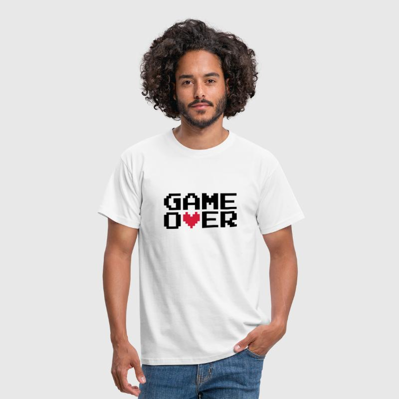 Game over | Heart | Herz | Love | Liebe - Men's T-Shirt