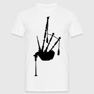 music bagpipe scotland scottish - Männer T-Shirt