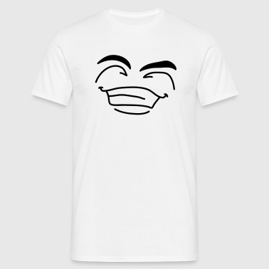 happy_1c - Mannen T-shirt