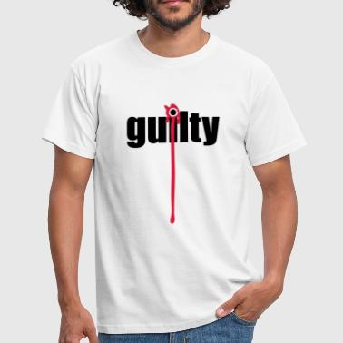 Guilty | Blood | Margin - Mannen T-shirt