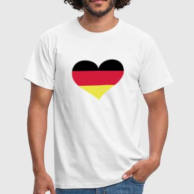 Germany heart / Deutschland Herz - eushirt.com - EU - Men's T-Shirt