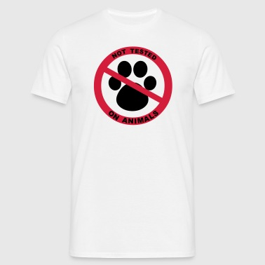Not Tested on Animals Symbol - Men's T-Shirt