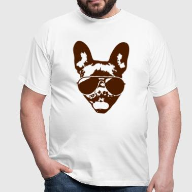 French bulldog with sunglasses - Men's T-Shirt