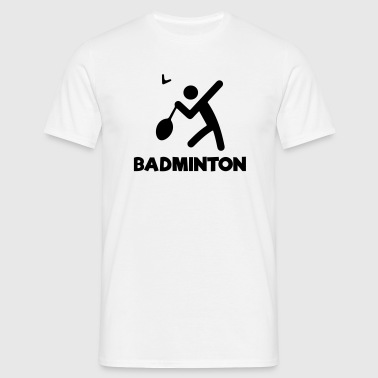 BADMINTON Stickfigure - Men's T-Shirt