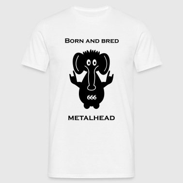 Born and bred metalhead classic logo - Men's T-Shirt