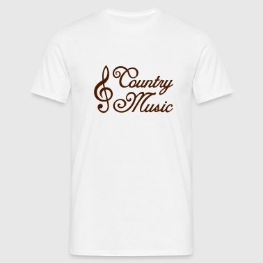 Country Music *  treble clef - Men's T-Shirt