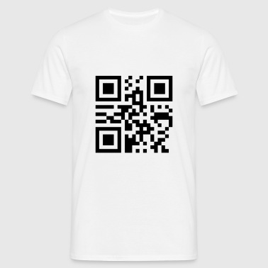 king_qrcode_1c - T-shirt herr