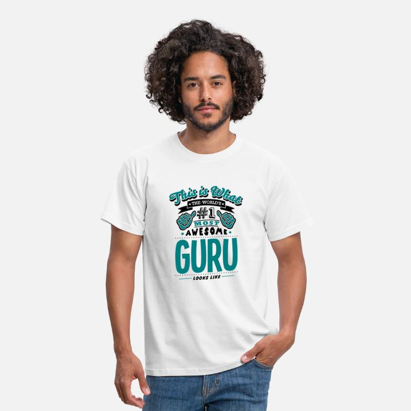 Guru T-Shirts - guru world no1 most awesome copy - Mannen T-shirt wit