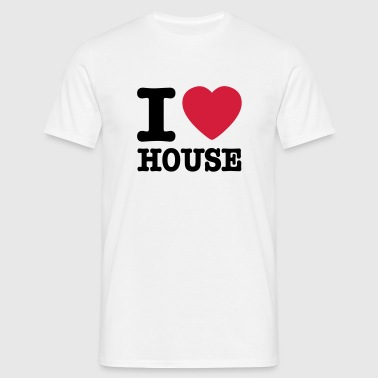 i love house / I heart house - Männer T-Shirt