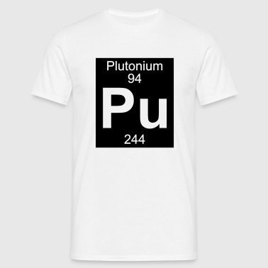 Element 94 - pu (plutonium) - Inverse (Full) - Mannen T-shirt