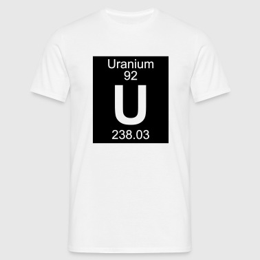 Element 92 - u (uranium) - Inverse (Full) - T-shirt Homme