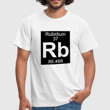 Element  37 - rb (rubidium) - Inverse (Full) - T-shirt Homme