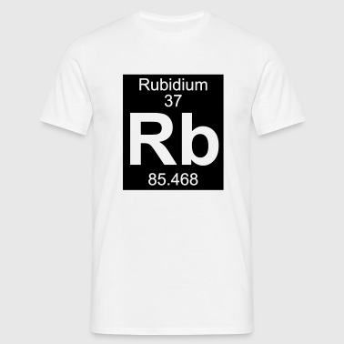 Element  37 - rb (rubidium) - Inverse (Full) - Herre-T-shirt