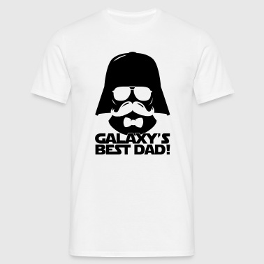 Funny Best Dad of the Galaxy statement - Men's T-Shirt