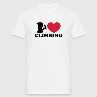 Climbing, I Love Heart, Sports, Rock, Extreme - T-shirt Homme