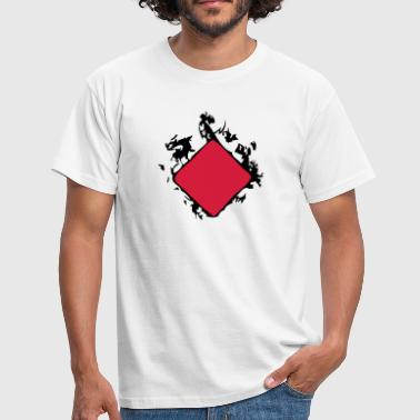 carreau enflame poker - T-shirt Homme