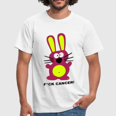 Fuck Fight Cancer Krebs Brustkrebs Hase Bunny - Mannen T-shirt