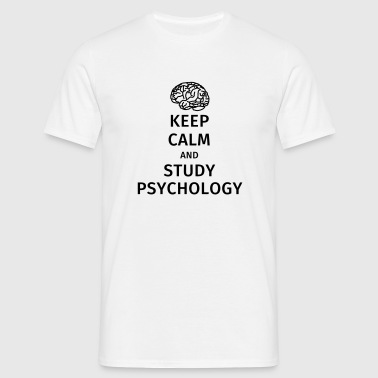 keep calm and study psychology - Männer T-Shirt