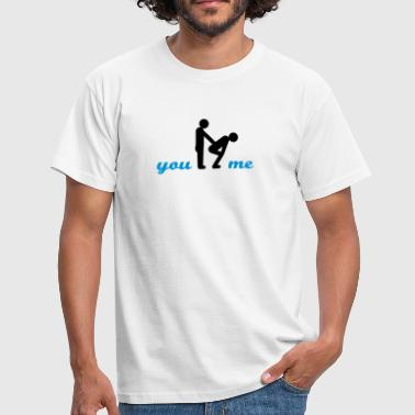 gay guys bottom - Männer T-Shirt