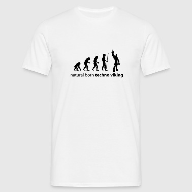 evolution_techno_viking - Men's T-Shirt