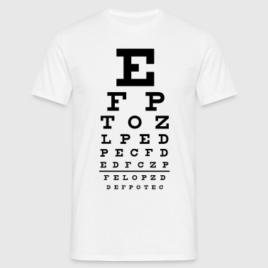 eye chart - T-skjorte for menn