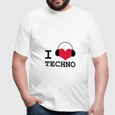 I Love Techno ! - T-shirt Homme
