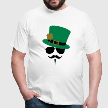 Go Green Moustache - Mannen T-shirt