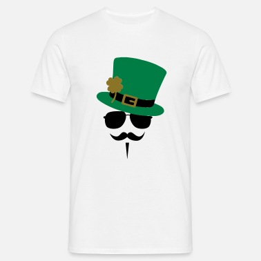 St Patricks Day Go Green Moustache - Mannen T-shirt