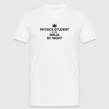 physics student day ninja by night - Men's T-Shirt