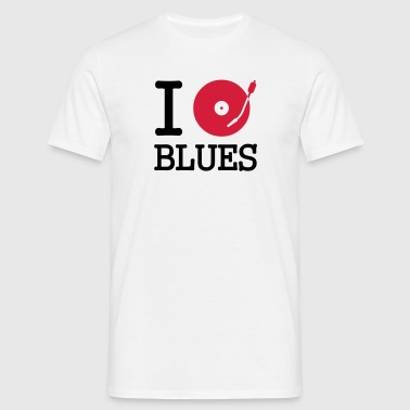 i dj / play / listen to blues - T-shirt Homme