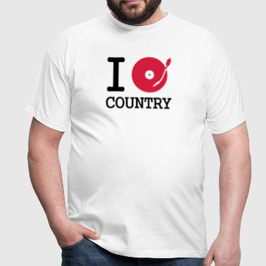 I dj / play / listen to country - Camiseta hombre