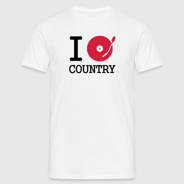 I dj / play / listen to country - Mannen T-shirt
