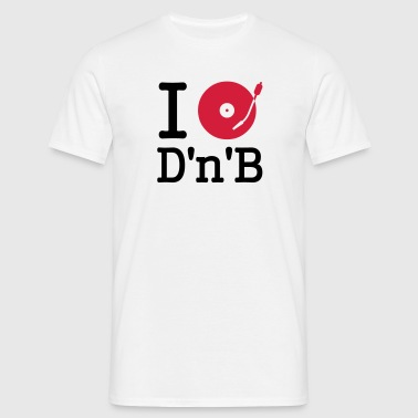 i dj / play / listen to drum and bass - Herre-T-shirt