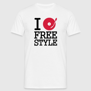 I dj / play / listen to freestyle - T-shirt herr