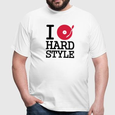 I dj / play / listen to hardstyle - T-shirt herr