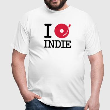 i dj / play / listen to indie - Herre-T-shirt