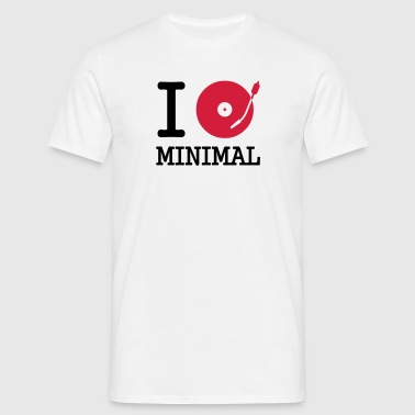 I dj / play / listen to minimal - Männer T-Shirt