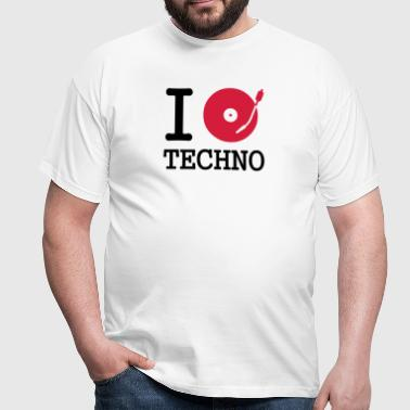 I dj / play / listen to techno - Mannen T-shirt