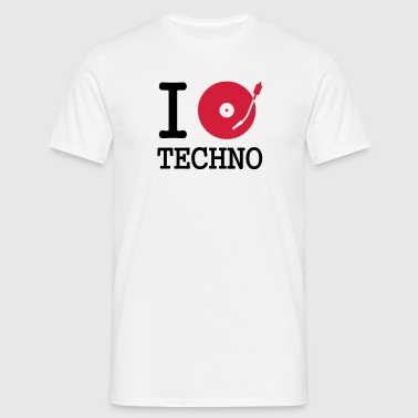 I dj / play / listen to techno - T-skjorte for menn